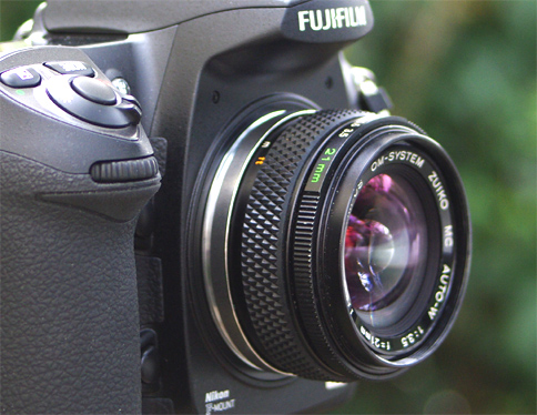 Zuiko on Fuji , no adapter
